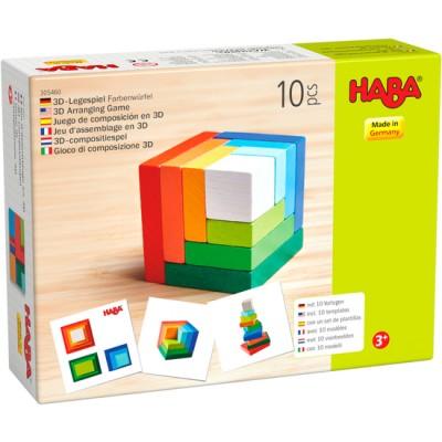 Jeu d'assemblage en 3 D cube multicolore
